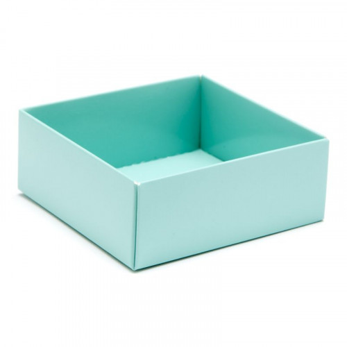 Fold-Up 4 Chocolate Box Base Only 78mm x 82mm x 32mm in Aqua