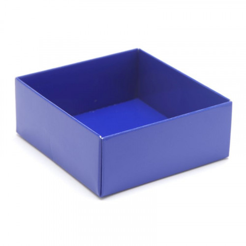 Fold-Up 4 Chocolate Box Base Only 78mm x 82mm x 32mm inBlue