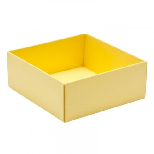 Fold-Up 4 Chocolate Box Base Only 78mm x 82mm x 32mm inButtermilk Yellow