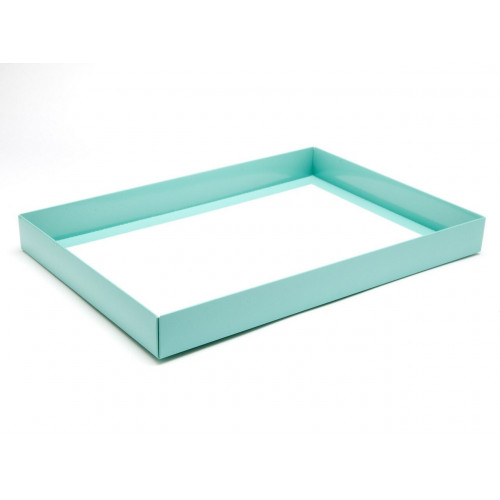 Fold-Up 48 Chocolate Box Base Only 312mm x 217mm x 32mm in Aqua