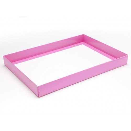 Fold-Up 48 Chocolate Box Base Only 312mm x 217mm x 32mm in Electric Pink