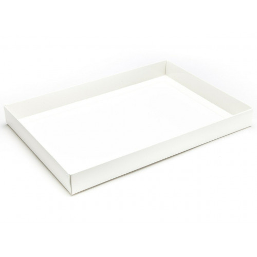 Fold-Up 48 Chocolate Box Base Only 312mm x217mm x32mm in White