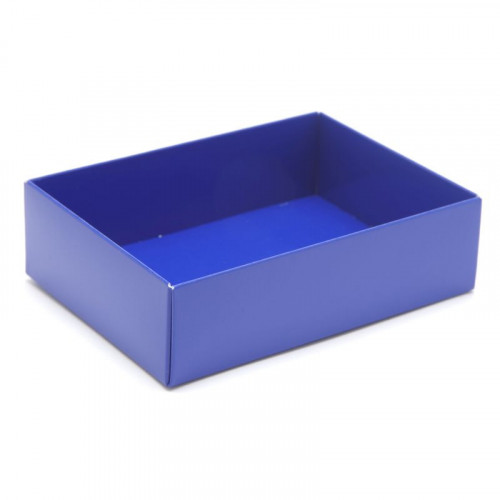 Fold-Up 6 Chocolate Box Base Only 112mm x 82mm x 32mm in Blue