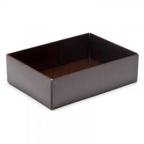 Fold-Up 6 Chocolate Box Base Only 112mm x 82mm x 32mm in Brown