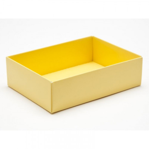 Fold-Up 6 Chocolate Box Base Only 112mm x 82mm x 32mm in Buttermilk Yellow