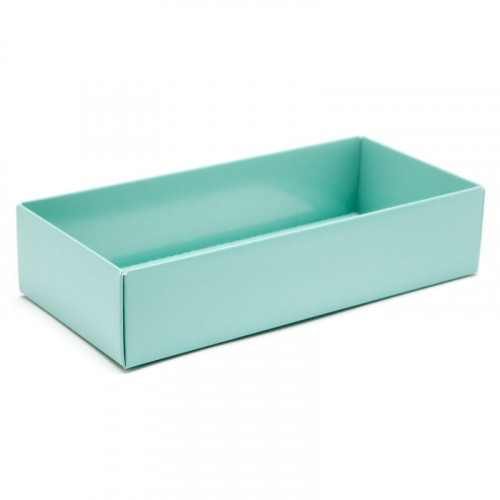 Fold-Up 8 Chocolate Box Base Only 159mm x 78mm x 32mm in Aqua