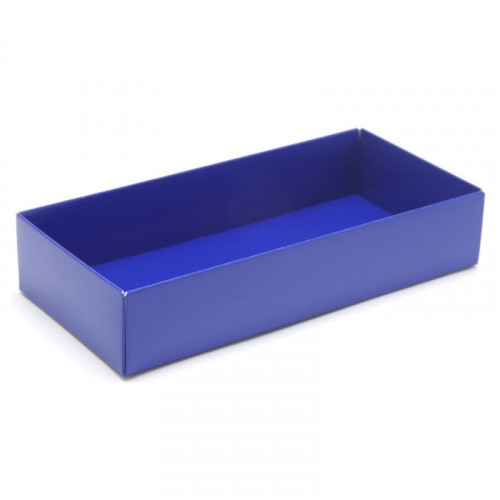 Fold-Up 8 Chocolate Box Base Only 159mm x 78mm x 32mm in Blue