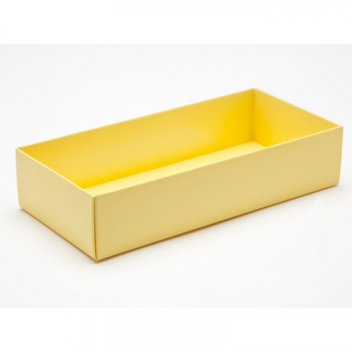 Fold-Up 8 Chocolate Box Base Only 159mm x 78mm x 32mm in Buttermilk Yellow