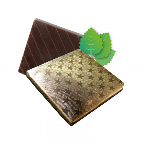 Mint Flavoured Dark Chocolate Neapolitan Finished in Gold Foil