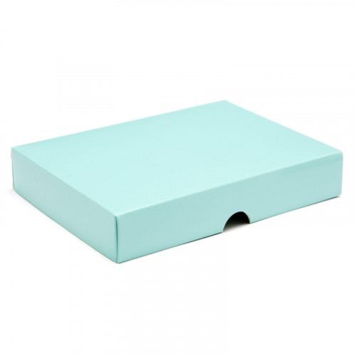 Fold-Up 12 Chocolate Box Lid Only 159mm x 112mm x 32mm in Aqua