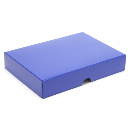 Fold-Up 12 Chocolate Box Lid Only 159mm x 112mm x 32mm in Blue