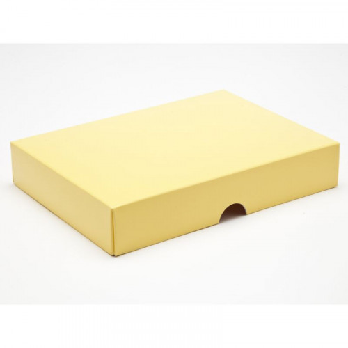 Fold-Up 12 Chocolate Box Lid Only 159mm x 112mm x 32mm in Buttermilk Yellow