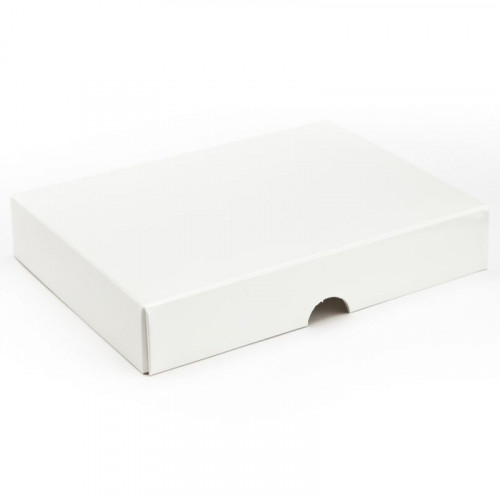 Fold-Up 12 Chocolate Box Lid Only 159mm x 112mm x 32mm in White