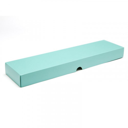 Fold-Up 16 Chocolate Box Lid Only 159mm x 310mm x 82mm x 32mm in Aqua