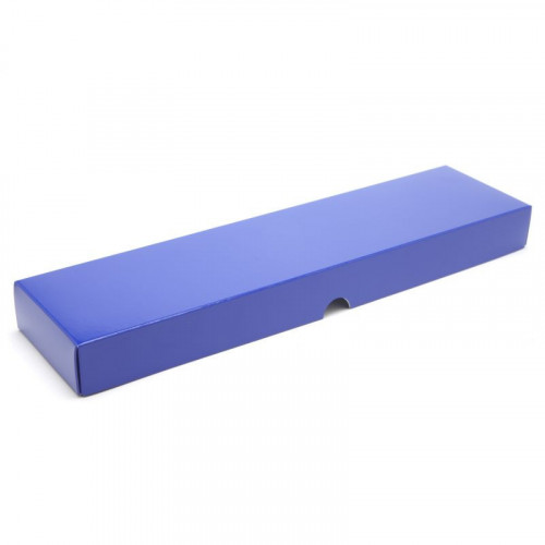 Fold-Up 16 Chocolate Box Lid Only 310mm x 82mm x 32mm in Blue