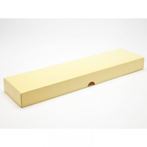 Fold-Up 16 Chocolate Box Lid Only 159mm x 310mm x 82mm x 32mm in Buttermilk Yellow