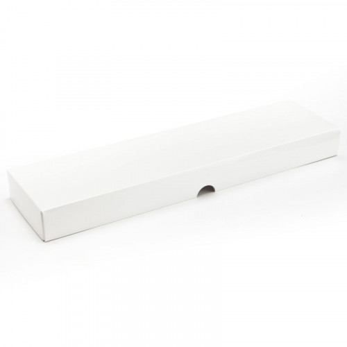Fold-Up 16 Chocolate Box Lid Only 310mm x 82mm x 32mm in White