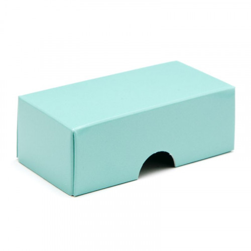 Fold-Up 2 Chocolate Box Lid Only 78mm x 41mm x 32mm in Aqua