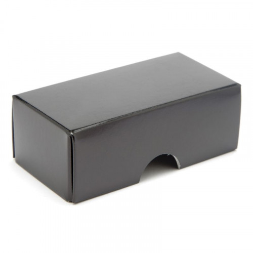 Fold-Up 2 Chocolate Box Lid Only 78mm x 41mm x 32mm in Black