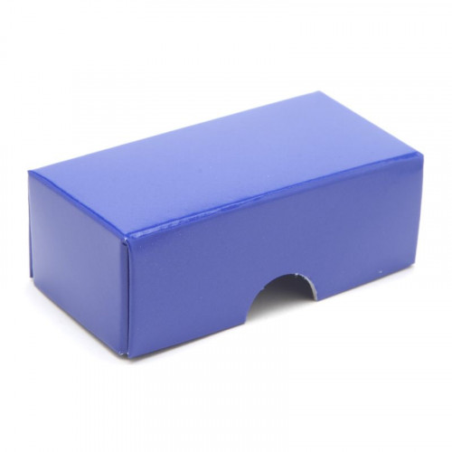 Fold-Up 2 Chocolate Box Lid Only 78mm x 41mm x 32mm in Blue