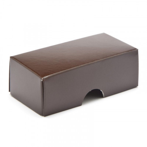 Fold-Up 2 Chocolate Box Lid Only 78mm x 41mm x 32mm in Chocolate Brown