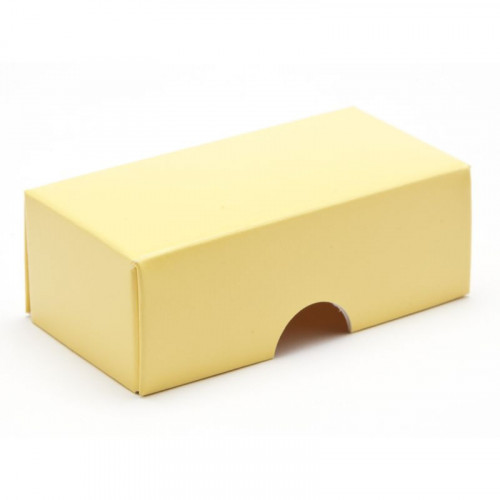Fold-Up 2 Chocolate Box Lid Only 78mm x 41mm x 32mm in Buttermilk Yellow