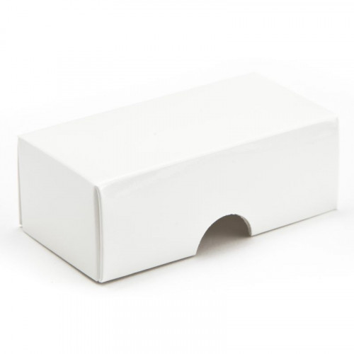 Fold-Up 2 Chocolate Box Lid Only 78mm x 41mm x 32mm in White