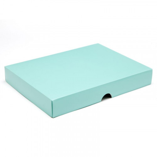 Fold-Up 24 Chocolate Box Lid Only 221mm x 159mm x 32mm in Aqua