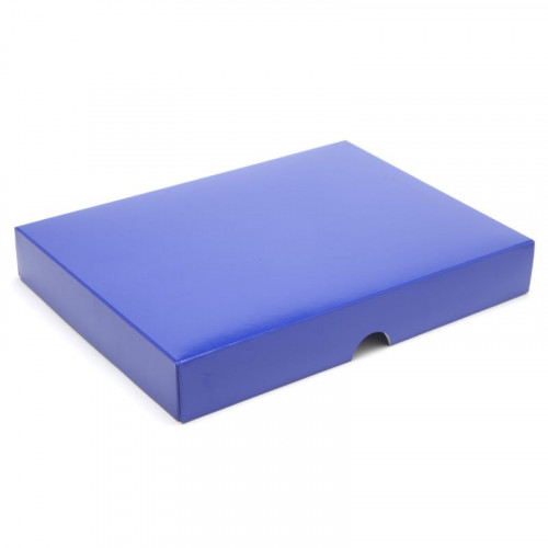 Fold-Up 24 Chocolate Box Lid Only 221mm x 159mm x 32mm in Blue