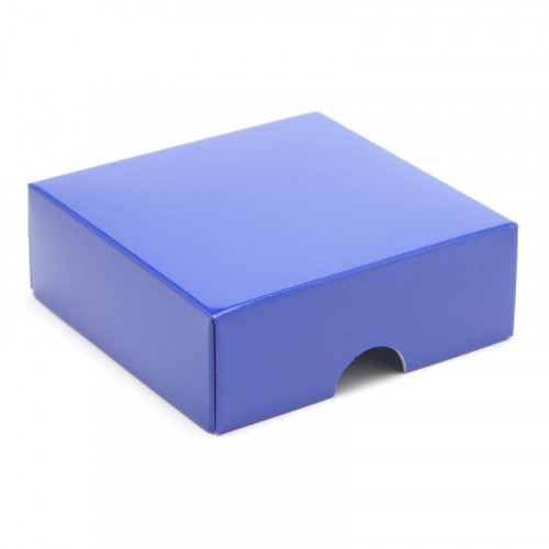 Fold-Up 4 Chocolate Box Lid Only 78mm x 82mm x 32mm inBlue