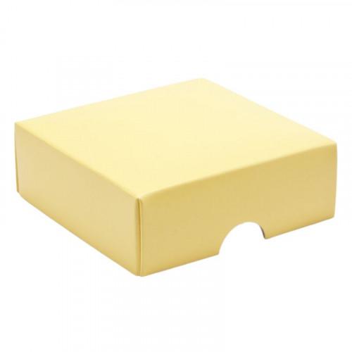 Fold-Up 4 Chocolate Box Lid Only 78mm x 82mm x 32mm inButtermilk Yellow