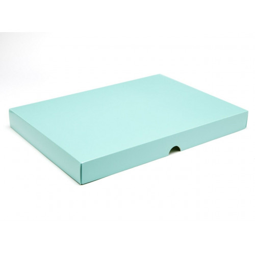 Fold-Up 48 Chocolate Box Lid Only 312mm x 217mm x 32mm inAqua