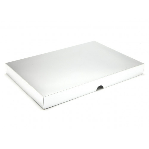Fold-Up 48 Chocolate Box Lid Only 312mm x 217mm x 32mm in Bright Silver