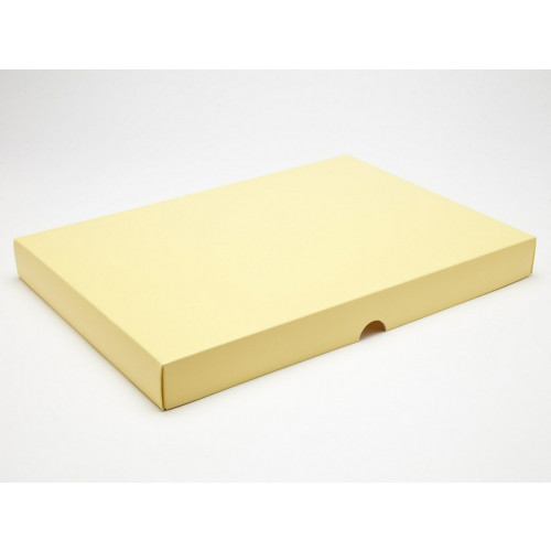 Fold-Up 48 Chocolate Box Lid Only 312mm x 217mm x 32mm in Buttermilk Yellow