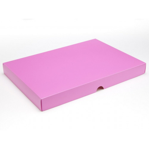 Fold-Up 48 Chocolate Box Lid Only 312mm x 217mm x 32mm in Electric Pink