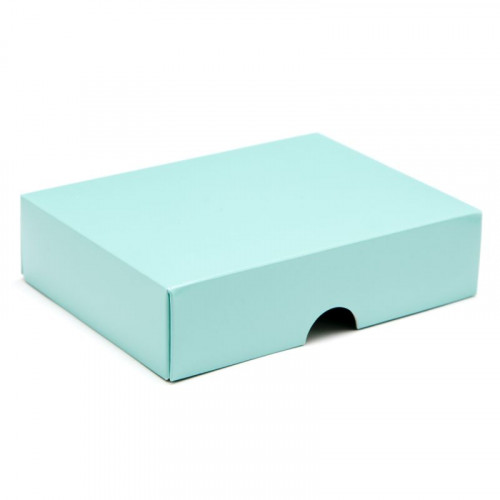 Fold-Up 6 Chocolate Box Lid Only 112mm x 82mm x 32mm in Aqua
