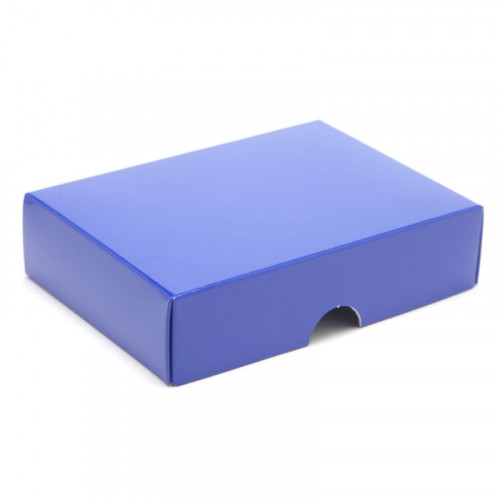 Fold-Up 6 Chocolate Box Lid Only 112mm x 82mm x 32mm in Blue