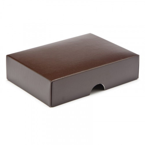 Fold-Up 6 Chocolate Box Lid Only 112mm x 82mm x 32mm in Brown
