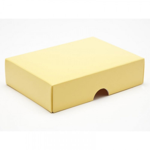 Fold-Up 6 Chocolate Box Lid Only 112mm x 82mm x 32mm in Buttermilk
