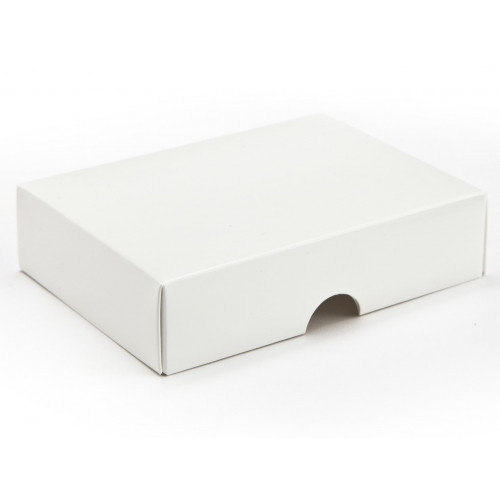 Fold-Up 6 Chocolate Box Lid Only 112mm x 82mm x 32mm in  White