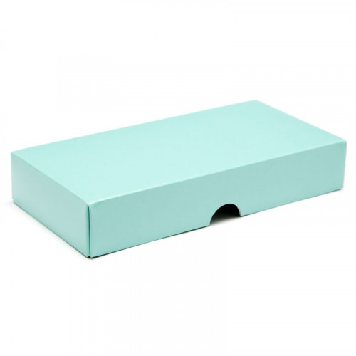 Fold-Up 8 Chocolate Box Lid Only 159mm x 78mm x 32mm in Aqua