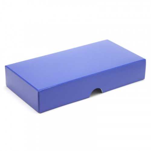 Fold-Up 8 Chocolate Box Lid Only 159mm x 78mm x 32mm in Blue