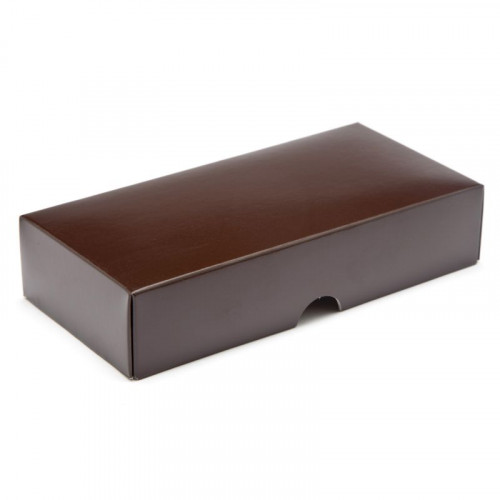Fold-Up 8 Chocolate Box Lid Only 159mm x 78mm x 32mm in Chocolate Brown
