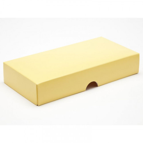 Fold-Up 8 Chocolate Box Lid Only 159mm x 78mm x 32mm in Buttermilk Yellow
