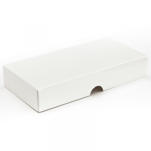 Fold-Up 8 Chocolate Box Lid Only 159mm x 78mm x 32mm in White
