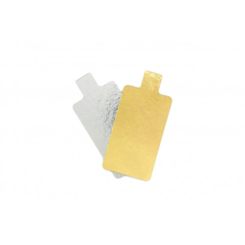 Small Rectangle 35mm x 80mm Patisserie Cake Board with Tab