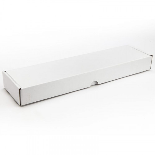 16 Choc Mail Out Box 335mm x 87mm x 35mm (Flat Packed) White