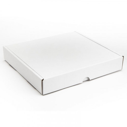 25 Choc Mail Out Box for Square Wibalin Box 211mm x 197mm 35mm (Flat Packed) White