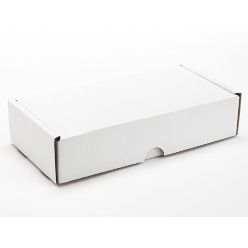 8  Choc Mail Out Box 183mm x 87mm x 35mm (Flat Packed) White