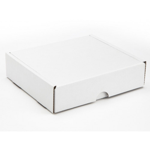 9 Choc Mail Out Box for Square Wibalin Box 133mm x 125mm x 35mm (Flat Packed) White